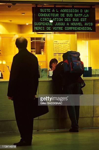 Illustration Strike SNCF On October 8Th 1998 In ParisFrance