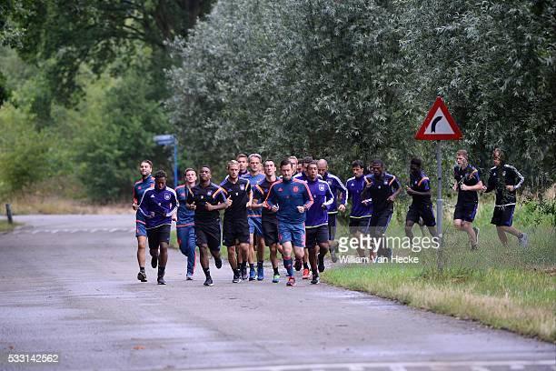 Illustration team pictured during the morning run of RSC Anderlecht at the Bilderberg hotel in Tegelen on juli 09 2015 in Tegelen Netherlands