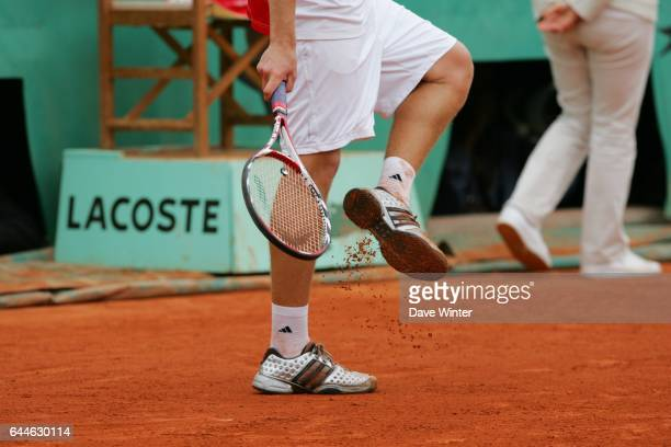 Illustration terre battue / Chaussures Roland Garros 2008 Jour 10 Photo Dave Winter / Icon Sport