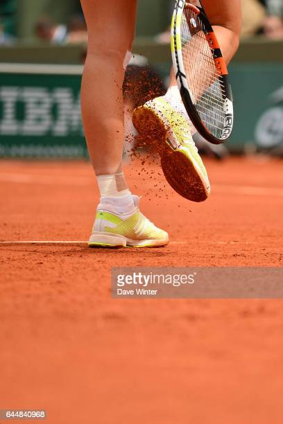 illustration terre battue raquette chaussures Jour 3 Roland Garros 2015 Photo Dave Winter / Icon Sport