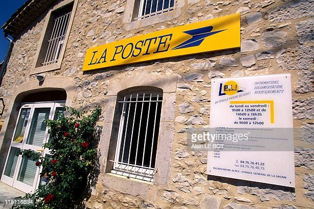 Illustration the 'point public' contains different services in the same place in Beaufort Sur Gervanne France on September 10 1997