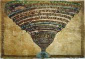 Illustration to the Divine Comedy by Dante Alighieri 14801490 Artist Botticelli Sandro