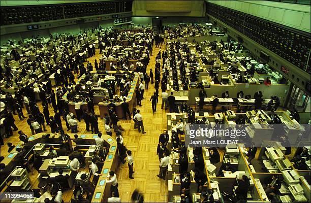 Illustration Tokyo Japan in December 1993Tokyo stock exchange