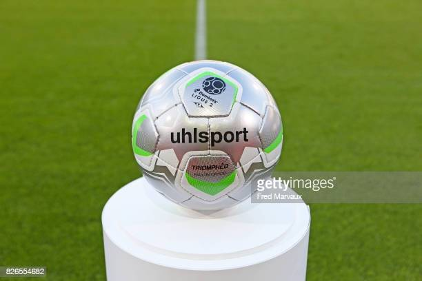 Illustration Uhlsport official ball of Domino's Ligue 2 during the French Ligue 2 match between Nancy and Niort at Stade Marcel Picot on August 4...