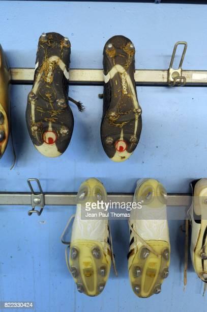 Illustration vestiaire / Chaussures / Crampons Strasbourg / Reims Ligue 2 37e journee