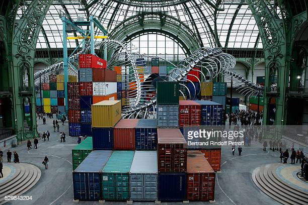 Illustration view during the 'Empires' exhibition of Huang Yong Ping as part of Monumenta 2016 Opening at Le Grand Palais on May 9 2016 in Paris...