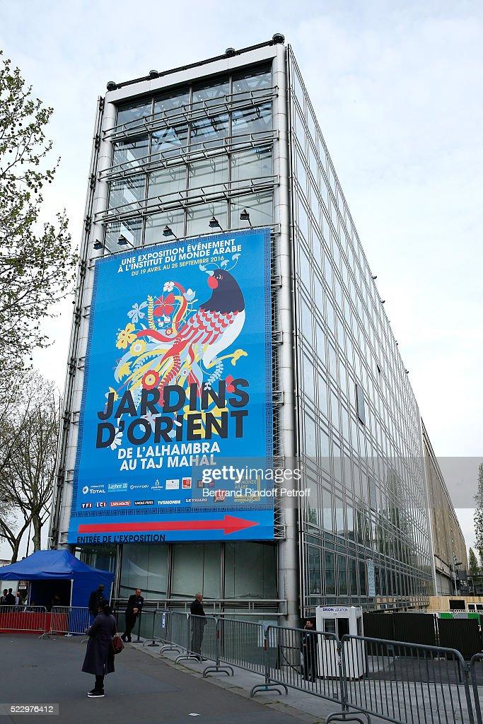 D View Of Exhibition : Quot jardins d orient paris exhibition at institut du monde