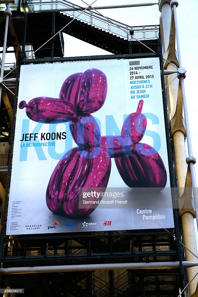 Illustration view of Beaubourg during the 'Jeff Koons' Retrospective Exhibition Opening Evening at Beaubourg on November 24 2014 in Paris France