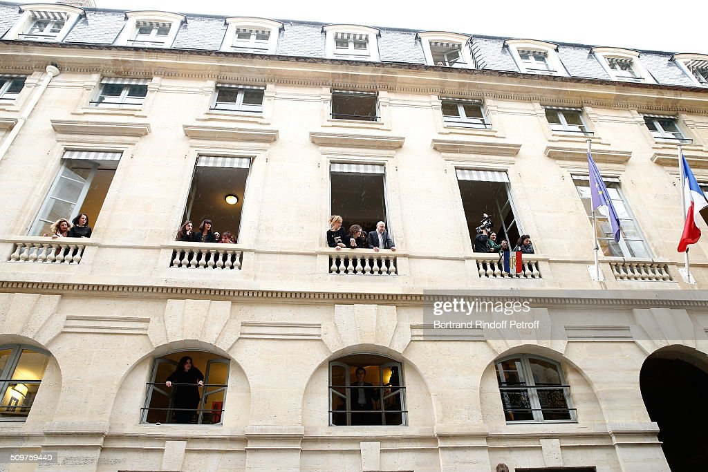 Illustration view of employees of Minister of Culture during Fleur Pellerin leaves it after Audrey Azoulay Newly Appointed French Minister of Culture and Communication instead of Fleur Pellerin at Minister of Culture on February 12, 2016 in Paris, France.