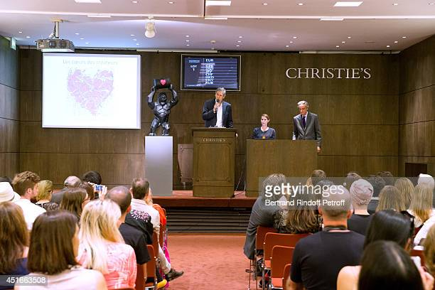 Illustration view of 'Le Coeur Des Createurs' Auction at Christie's in favor of La Chaine de l'Espoir on July 3 2014 in Paris France
