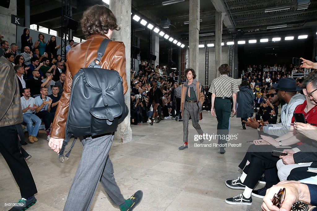 Illustration view of Models walking the runway during the Lanvin Menswear Spring/Summer 2017 show as part of Paris Fashion Week on June 26, 2016 in Paris, France.