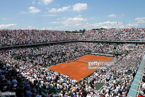 Illustration view of Philippe Chatrier tennis courts whyle the Men's Final of Roland Garros French Tennis Open 2014 Day 15 on June 8 2014 in Paris...