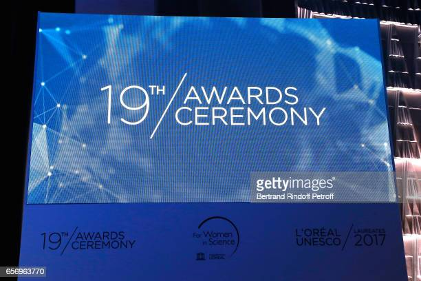 Illustration view of the '2017 L'Oreal UNESCO for Women in Science' 19th Awards Ceremony at Maison de la Mutualite on March 23 2017 in Paris France