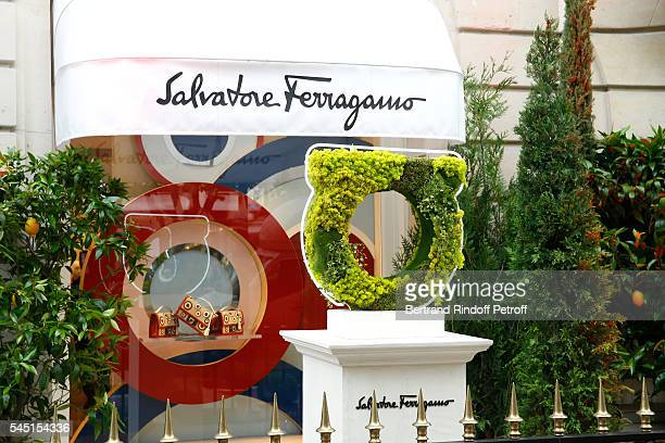 Illustration view of the Boutique during the Re Opening of Salvatore Ferragamo Boutique at Avenue Montaigne on July 5 2016 in Paris France