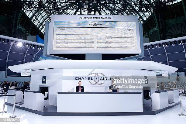 Illustration view of the 'Chanel Airport' during the Chanel show as part of the Paris Fashion Week Womenswear Spring/Summer 2016 on October 6 2015 in...