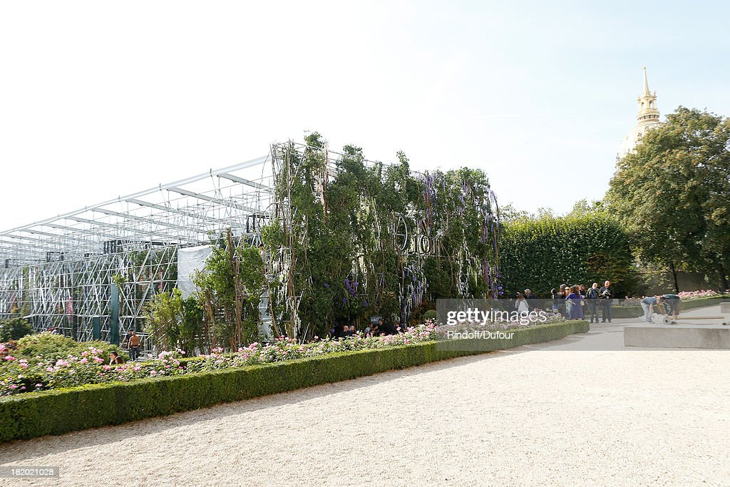 Illustration view of the Christian Dior show as part of the Paris Fashion Week Womenswear Spring/Summer 2014, held at Musee Rodin on September 27, 2013 in Paris, France.