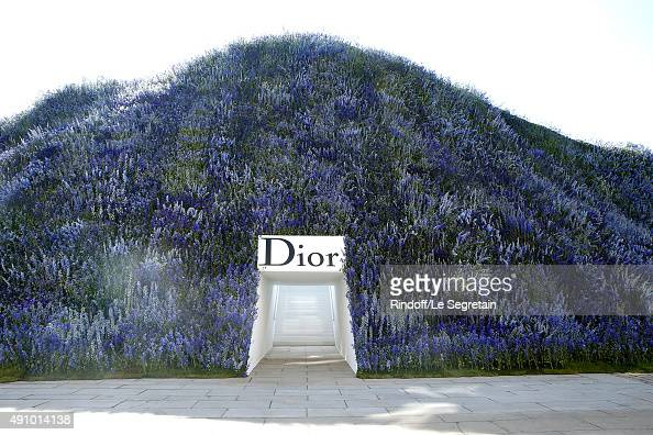 Illustration view of the Christian Dior show as part of the Paris Fashion Week Womenswear Spring/Summer 2016 Held at Cour Carre du Louvre on October...