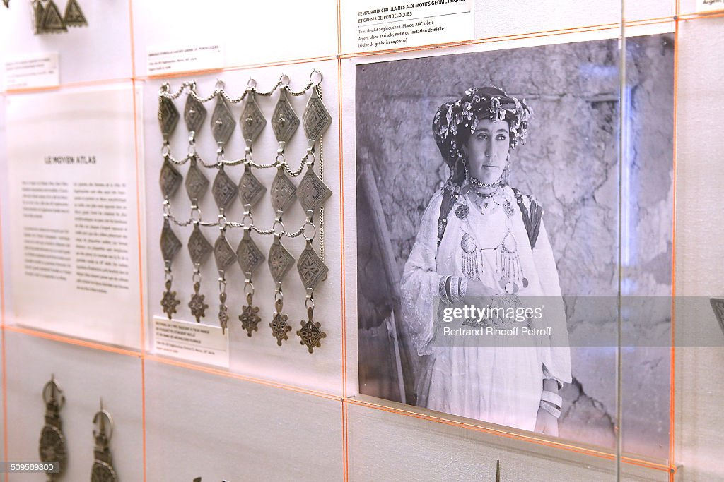 Illustration view of the collection during the Opening of the Exhibition 'Tresors à porter', Treasures to wear, presented in the Museum of the 'Institut du Monde Arabe' on February 11, 2016 in Paris, France.