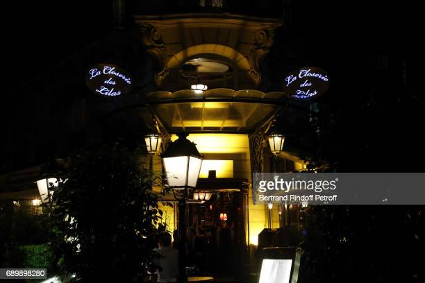 Illustration View of the Dinner of 'La Nuit des Molieres 2017' at la Closerie des Lilas on May 29 2017 in Paris France
