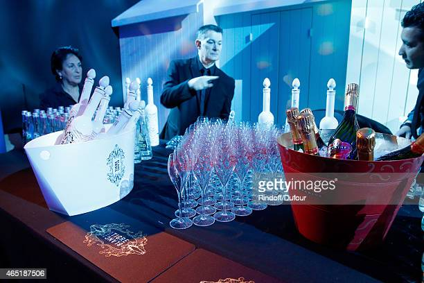 Illustration view of the ETAM Party as part of the Paris Fashion Week Womenswear Fall/Winter 2015/2016 Held at Piscine Molitor on March 3 2015 in...
