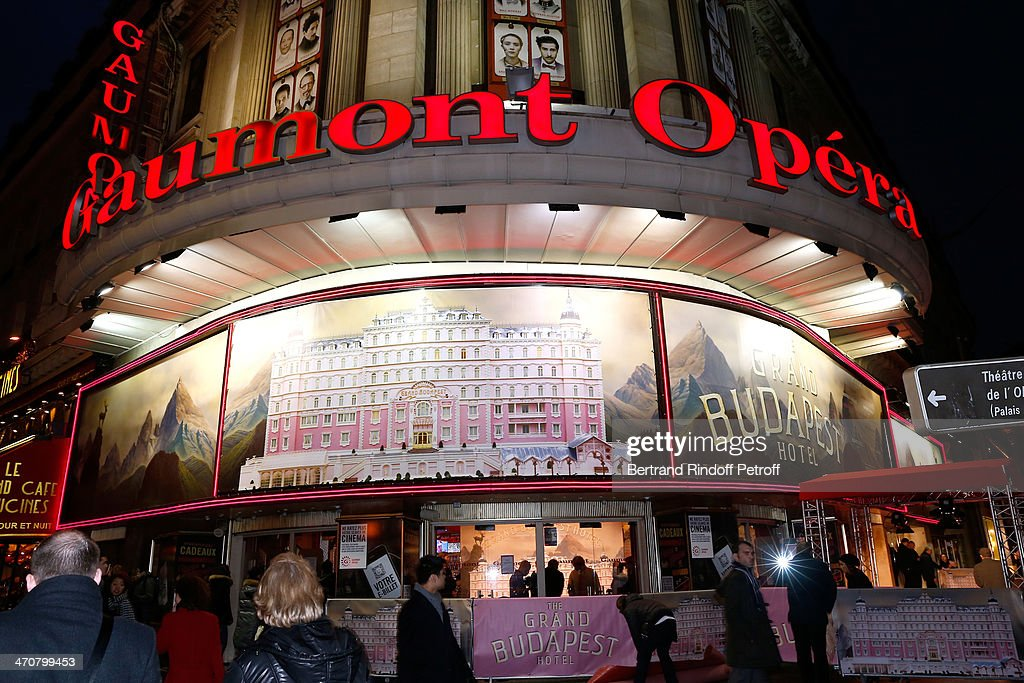 Illustration view of the Gaumont Opera whyle 'The Grand Budapest Hotel' Paris Premiere at Cinema Gaumont Opera Capucines on February 20, 2014 in Paris, France.