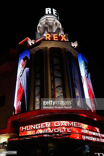 Illustration view of the 'Grand Rex' during the 'Hunger Games Mockingjay Part 2' Paris Premiere at Le Grand Rex on November 9 2015 in Paris France