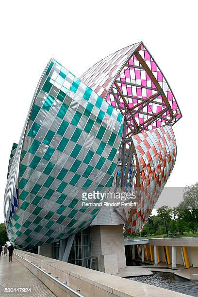 Illustration view of the Louis Vuitton Foundation during the 'Observatory of Light Work in Situ' Foundation Louis Vuitton presents a Temporary Work...