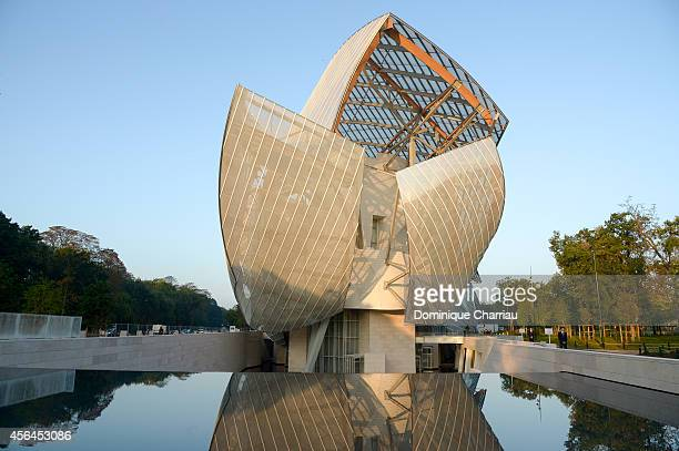 Illustration view of the Louis Vuitton Foundation prior to the Louis Vuitton show as part of the Paris Fashion Week Womenswear Spring/Summer 2015 on...