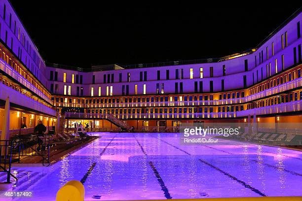 Illustration view of the Piscine Molitor during the ETAM show as part of the Paris Fashion Week Womenswear Fall/Winter 2015/2016 Held at Piscine...
