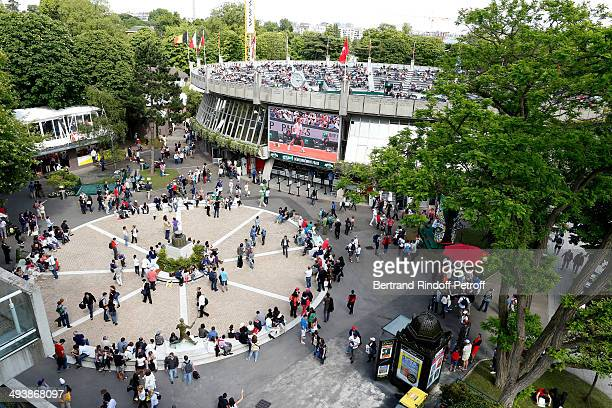 Illustration view of the Place des Mousquetaire at the Tennis French Open 2014 Day 1 at Roland Garros on May 25 2014 in Paris France