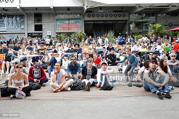 Illustration view of the Place des Mousquetaire during the 2016 French Tennis Open Day Four at Roland Garros on May 25 2016 in Paris France