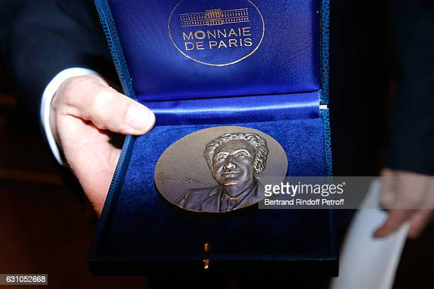 Illustration view of the Prize from Founder Stephane Bern's effigy during Stephane Bern's Foundation for 'L'Histoire et le Patrimoine Institut de...