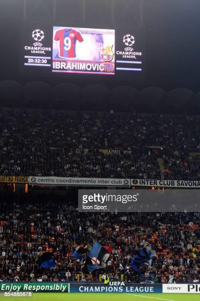 Illustration Zlatan IBRAHIMOVIC / Stade Giuseppe MEAZZA Inter Milan / Barcelone Champions League 2009/2010 Stade Giuseppe Meazza Milan