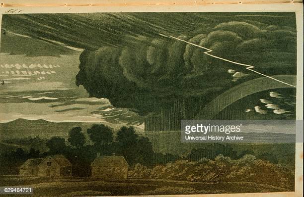 Illustrations from a German cloud atlas titled 'Wolken und andere Erscheinungen' by Thomas Forster
