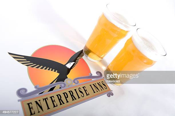 Illustrative image of the Enterprise Inns logo and two pints of larger