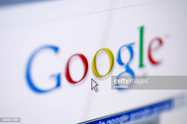 Illustrative image of the Google search engine website
