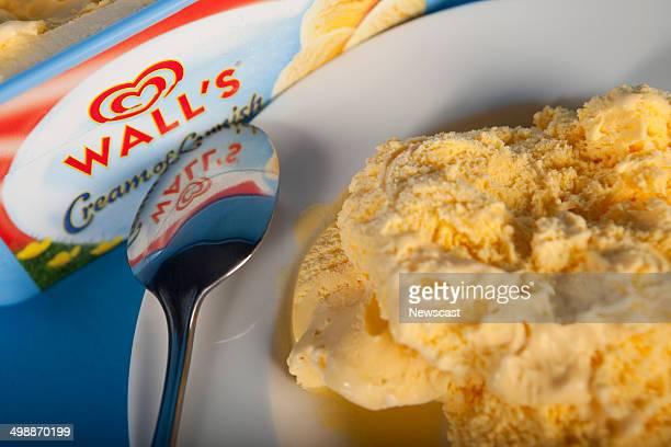 Illustrative image of Walls Cream of Cornish soft scoop icecream A Unilever brand