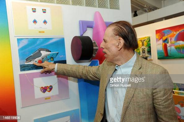 Illustrator and graphic artist Peter Max at his New York studio on June 18 2012 in New York City