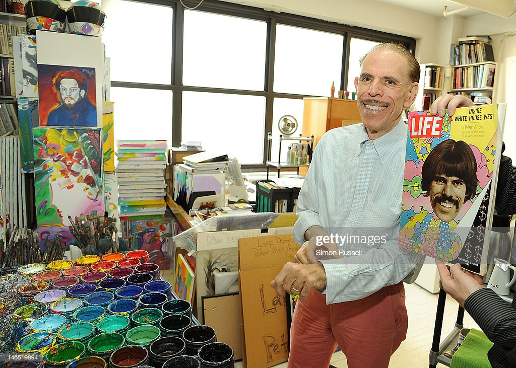 Illustrator and graphic artist Peter Max unveils his Paul McCartney Portrait Series at the Peter Max Studio on June 18 2012 in New York City