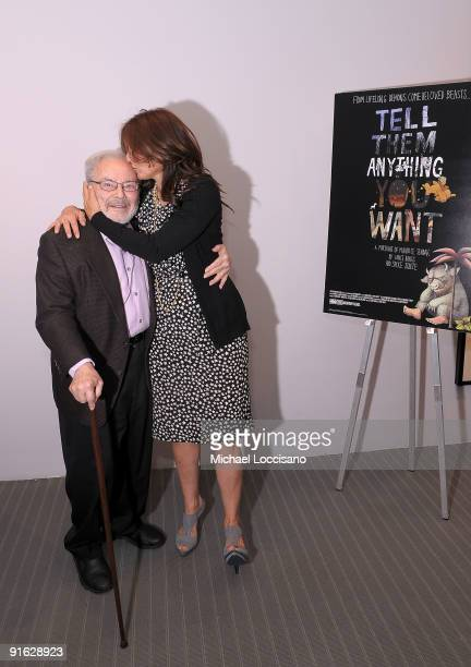 Illustrator and writer Maurice Sendak and actress Catherine Keener attend a documentary screening of 'Tell Them Anything You Want A Portrait of...