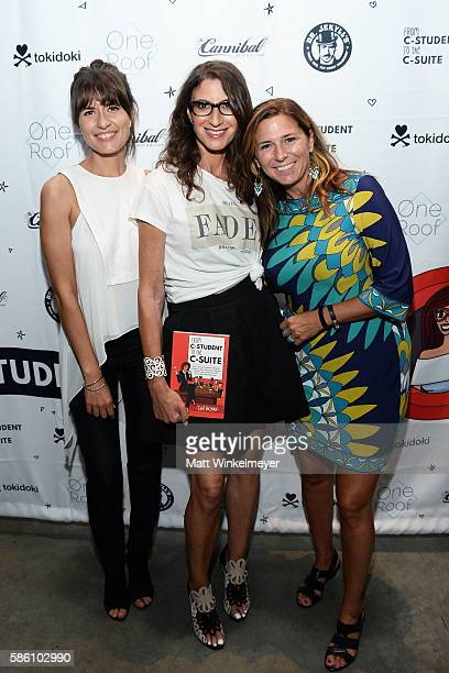 Illustrator Rocio Hedman author Tami Holzman and editor Brooke White attend the book launch for 'From CStudent to the CSuite Leveraging Emotional...