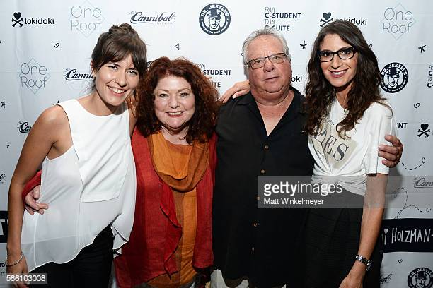 Illustrator Rocio Hedman Corin Holzman Robert Holzman and author Tami Holzman attend the book launch for 'From CStudent to the CSuite Leveraging...