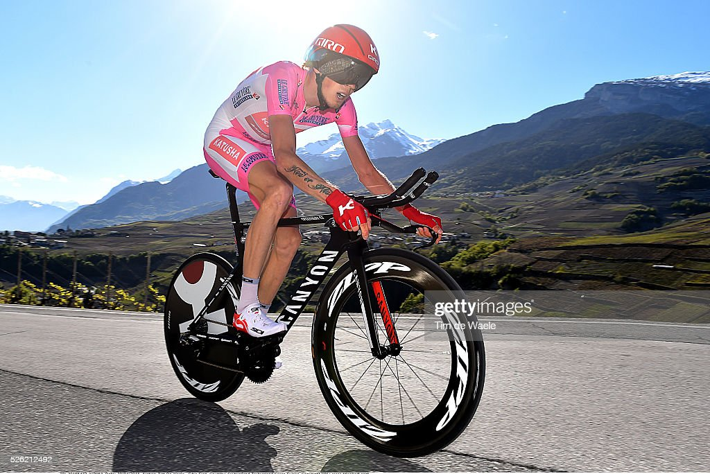 Ilnur Zakarin (RUS) during stage 3 of the Tour de Romandie on April 29, 2016 in Sion, Switzerland.