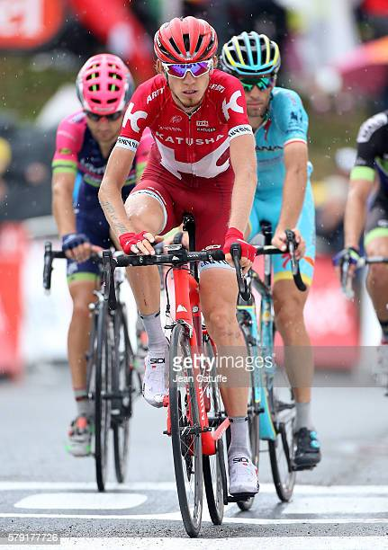 Ilnur Zakarin of Russia and Team Katusha crosses the finish line of stage 19 of the Tour de France 2016 a stage between Albertville and Saint Gervais...