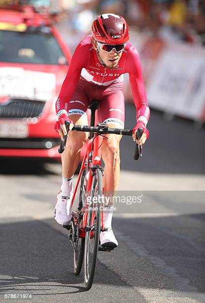 Ilnur Zakarin of Russia and Team Katusha in action during stage 18 of the Tour de France 2016 a time trial of 17km between Sallanches and Megeve on...