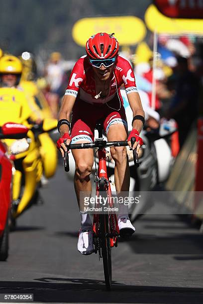 Ilnur Zakarin of Russia and Team Katusha wins the 1845km stage seventeen of Le Tour de France from Berne to FinhautEmosson on July 20 2016 in Bern...