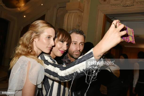 Ilona Smet and Jackie Cruz attend the John Galliano show as part of the Paris Fashion Week Womenswear Fall/Winter 2017/2018 at Hotel de Marois on...