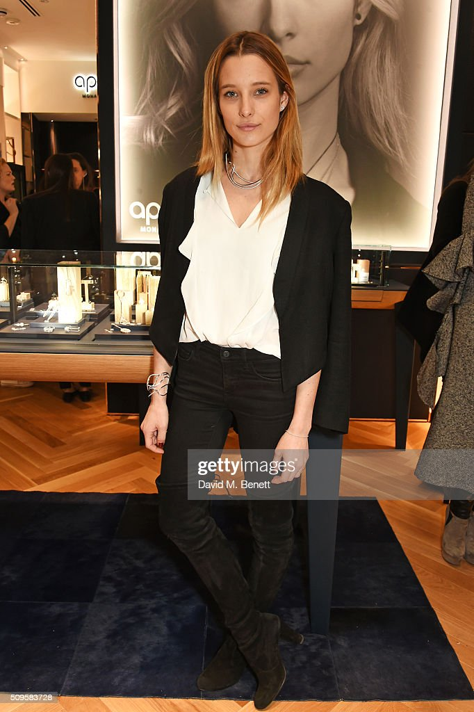 Ilona Smet attends the APM Monaco flagship store opening on South Molton Street on February 11, 2016 in London, England.