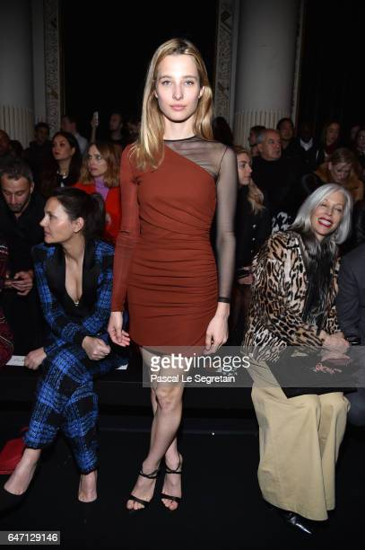 Ilona Smet attends the Balmain show as part of the Paris Fashion Week Womenswear Fall/Winter 2017/2018 on March 2 2017 in Paris France