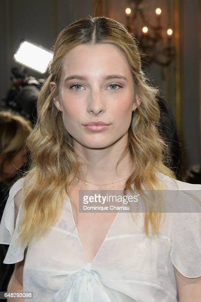 Ilona Smet attends the John Galliano show as part of the Paris Fashion Week Womenswear Fall/Winter 2017/2018 on March 5 2017 in Paris France